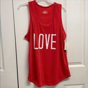 Bobbie Brooks Tank Top Size XL Red Love New